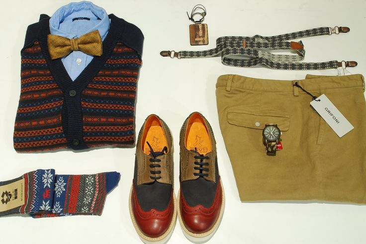 Laboratorio Base shoes - M.Grifoni chinos - Scotch & Soda suspenders - Timex watch - George's Roma www.georges.it