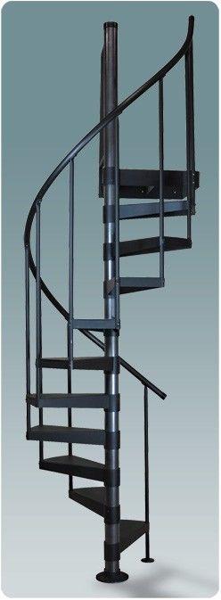Salter 3 Ft. 6 In. Diameter Classic Steel Spiral Stair Kit Uber small for loft entry