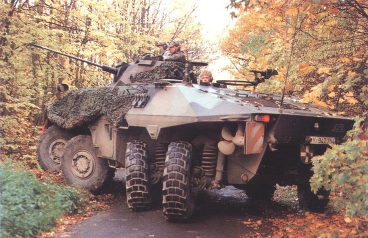 """German Army Bundeswehr Luchs 8x8 amphibious reconnaissance armoured fighting vehicle, unfortunately not in service anymore (phased out and replaced by the armoured recon car """"Fennek"""")"""