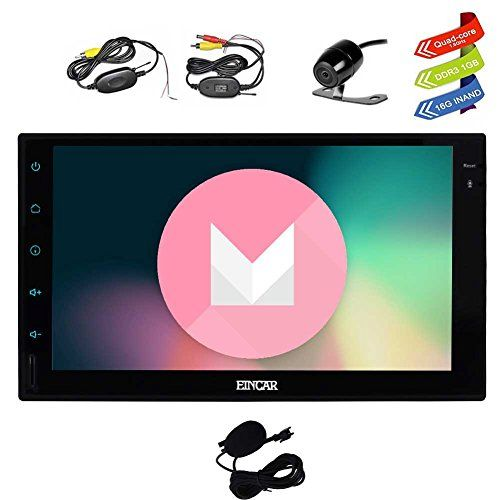 Latest Android 6.0 Car Stereo with GPS Double Din Navigation 7 Inch Full Touch Screen Vehicle Radio Head Unit Support 1080P Video No-DVD WiFi OBD2 + Wireless Backup Camera. For product info go to:  https://www.caraccessoriesonlinemarket.com/latest-android-6-0-car-stereo-with-gps-double-din-navigation-7-inch-full-touch-screen-vehicle-radio-head-unit-support-1080p-video-no-dvd-wifi-obd2-wireless-backup-camera/