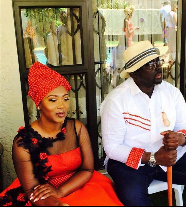 Mbali and her hubby Bbk
