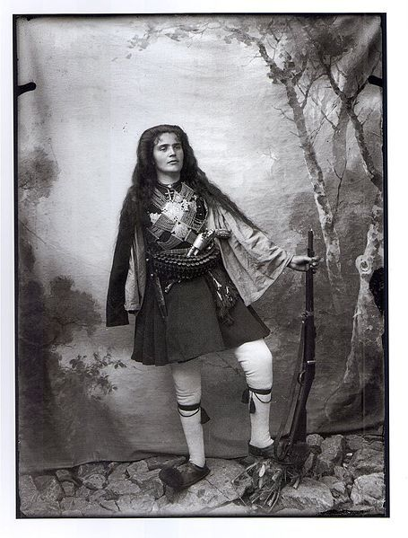 Greek Woman dressed and armed as a fighter of the struggle to free Macedonia from foreign occupation.