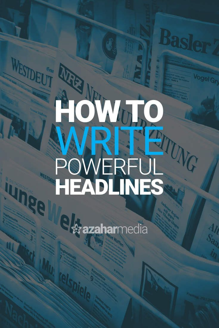 How to Write Powerful Headlines Without Becoming a Master Copywriter via @davidhartshorne