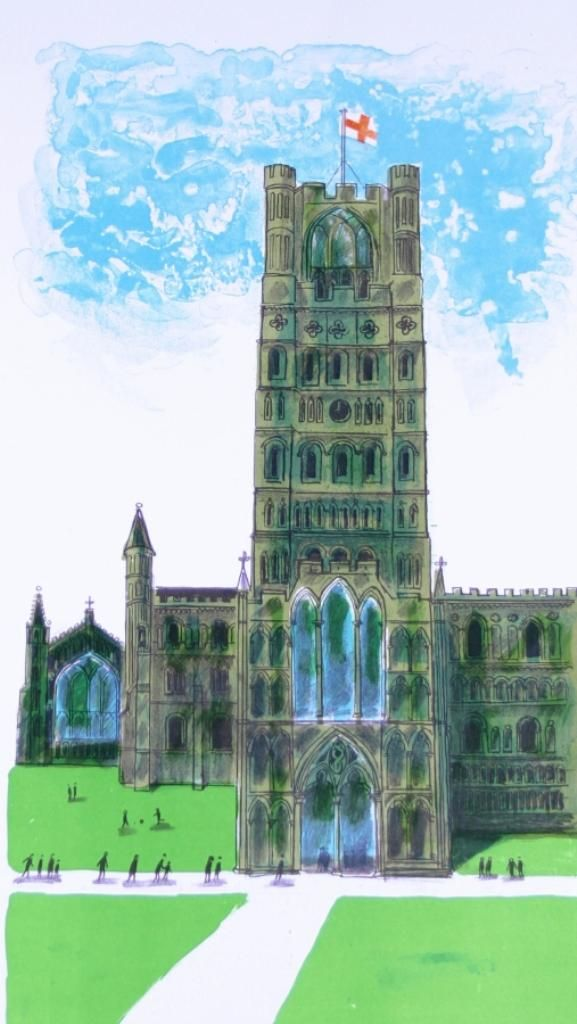 """""""Ely Cathedral"""" by Bernard Cheese, 2005 (lithograph)"""