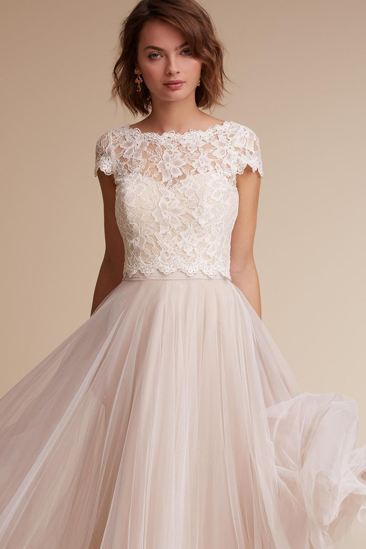 Bought this to see if it works with my dress.  Sydney Topper from @BHLDN
