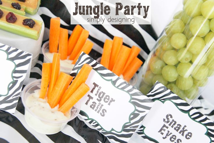 kid food jungle theme | Jungle-themed party | Jungle party themed food ideas | FREE jungle ...