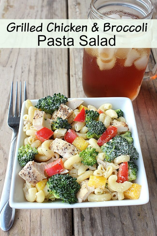 Delicious Grilled Chicken and Broccoli Pasta Salad