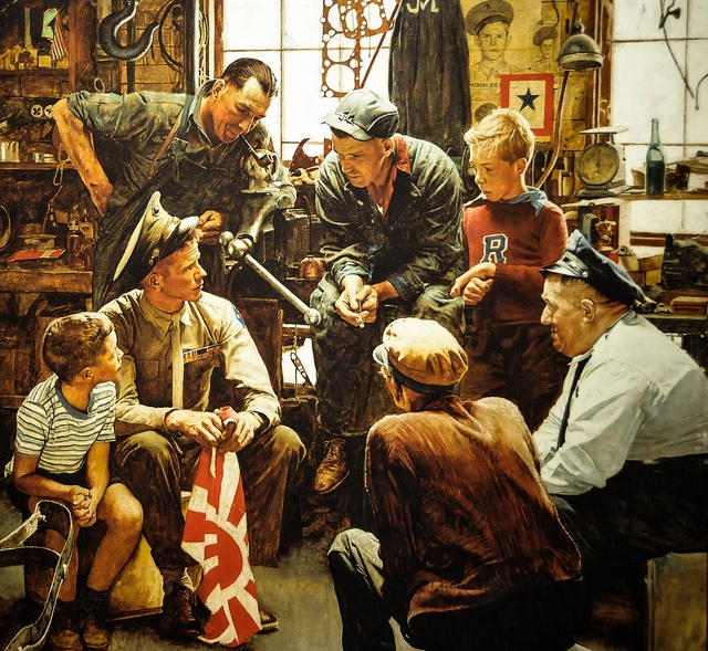 Norman Rockwell - The War Hero (Homecoming Marine), 1945 at the National Museum of the Marine Corps at Quantico VA by mbell1975, via Flickr
