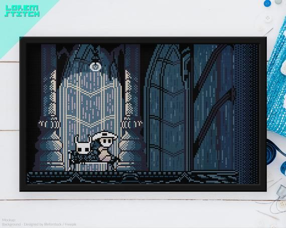 Hollow Knight Quirrel Bench City Of Tears Checkpoint Videogame Cross Stitch Pattern Instant Download Pdf In 2020 Cross Stitch Patterns Stitch Patterns Cross Stitch