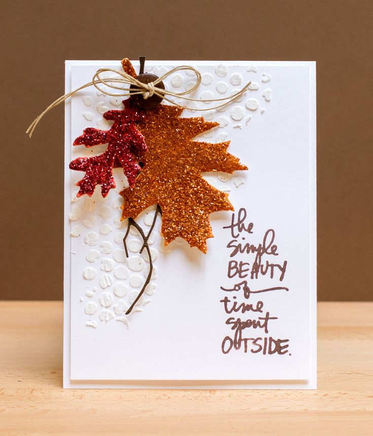 Fall Wedding Card Box Ideas: Thanksgiving Card Thank You