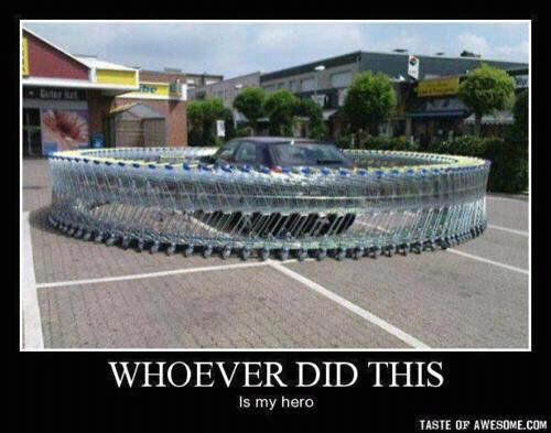 Awesome prank idea!: Buckets Lists, Heroes, Cars, Pranks, Funny Stuff, Humor, Shops Carts, Grocery Stores, Practice Jokes