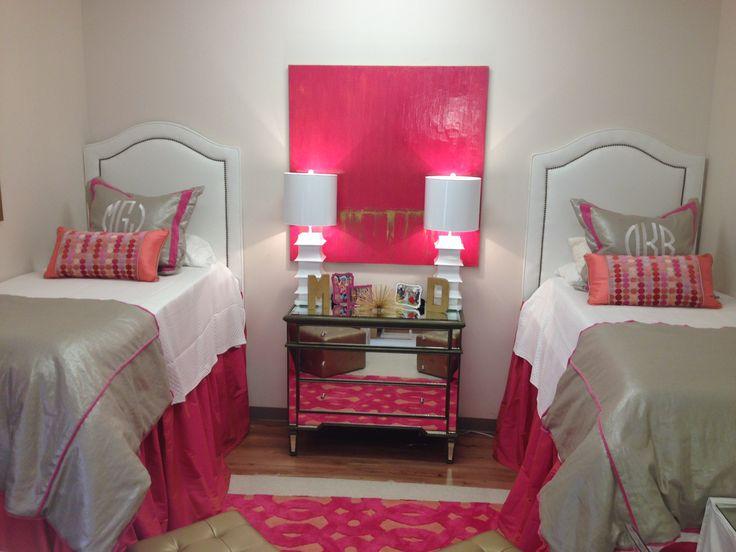 Hot pink dorm!