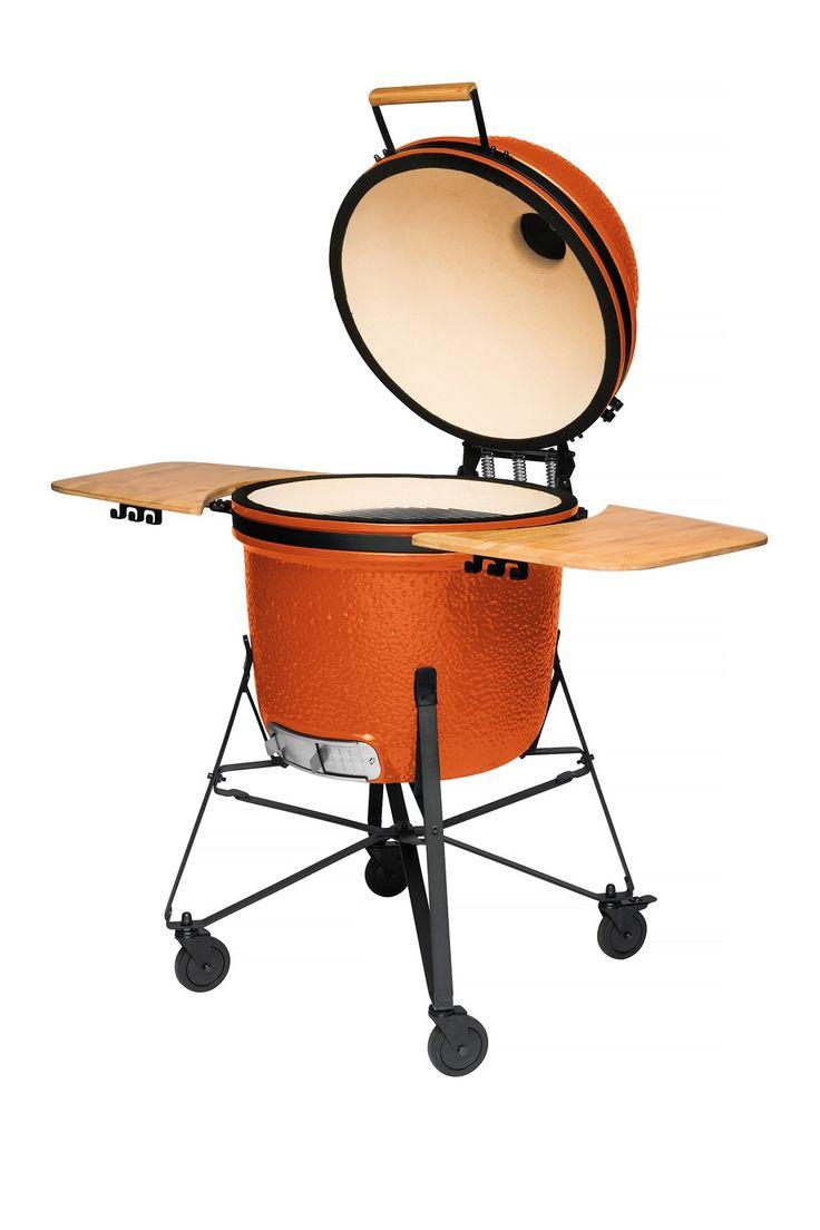 "BergHOFF Bright Orange 23"" Ceramic BBQ"