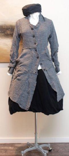 rundholz - Strickmantel gekochte Wolle grey - Winter 2013