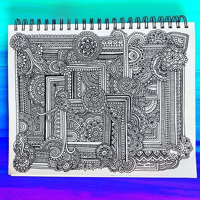 Hoja #1 de sketchbook nueva completada! Les gusta?? 💙💜💚