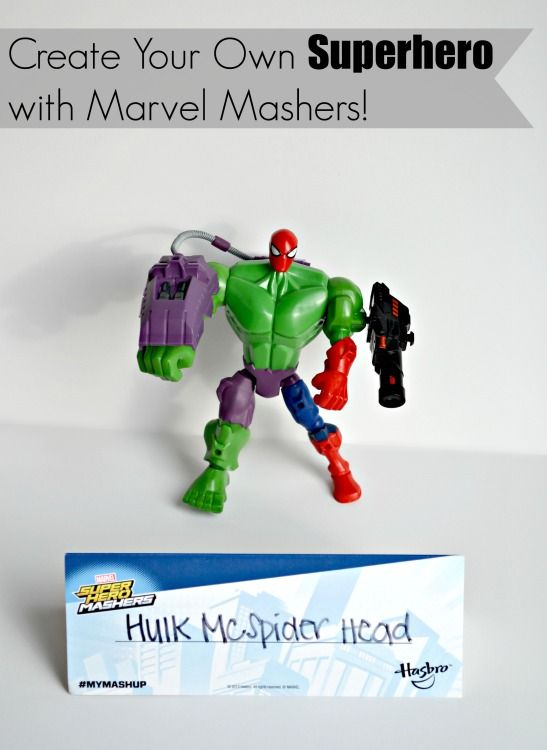 Create Your Own Superhero with Marvel Mashers!#MyMashUp