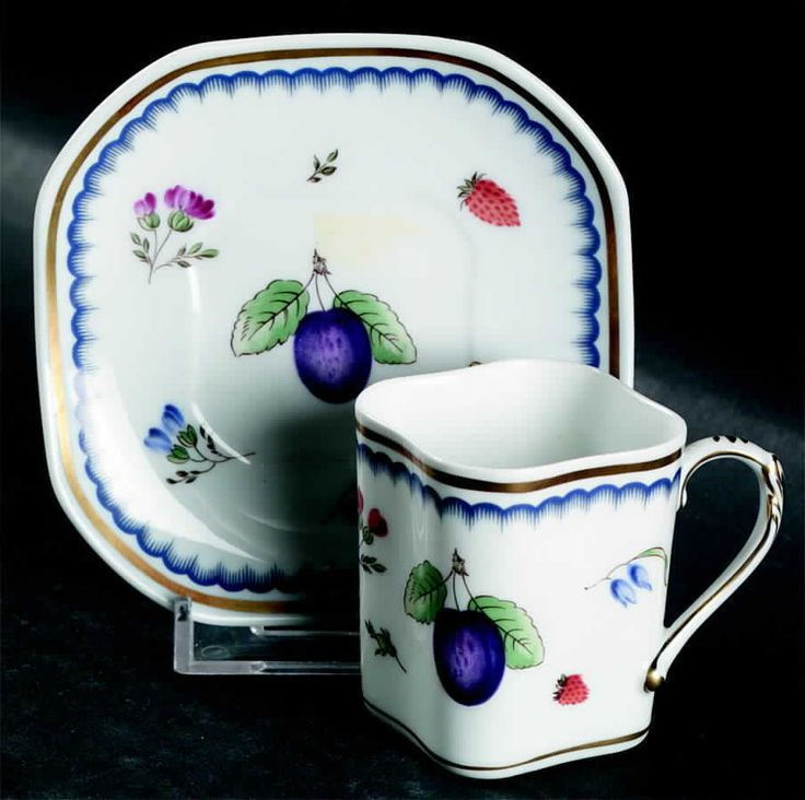 Richard Ginori ITALIAN FRUITS (ANTICO DOCCIA) Demitasse Cup & Saucer 6046299 #RICHARDGINORI