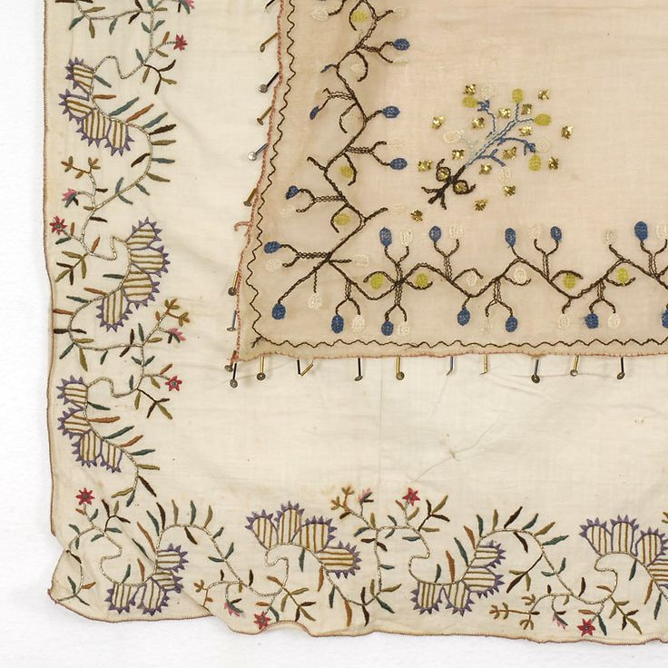 Lot of two Embroidered Covers from Ottoman Empire.