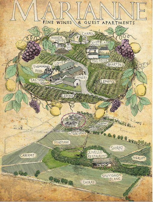 A Marianne Map by Rudolf Liebenberg