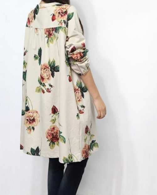 long floral print top/tunic