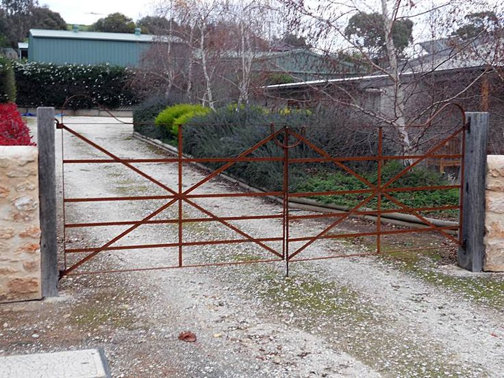 Designed to the clients specs entirely from flat bar, rusty to suit the workman's cottage. Angaston, Barossa Valley, SA.