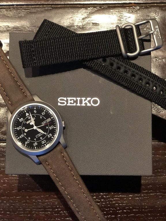 Present Bought A Seiko Snk809 And A Leather Strap For My Brothers