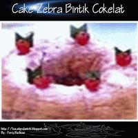 Cake Zebra Bintik Cokelat