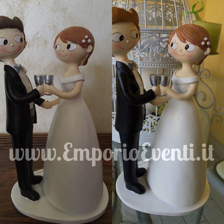 Centro torta brindare  - sposo biondo #caketoppers #sposi2017 #sposi #nozze