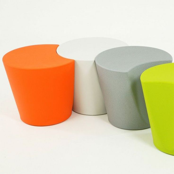 Apple small seating in bright colours - from sinle seating to a colourful bench