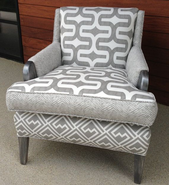 SOLD  Amazing upcycled modern vintage chair by BarsomDesign, $895.00