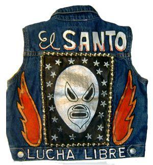 El Santo Lucha Libre Punk Denim Vest by dogtownkids, via Flickr