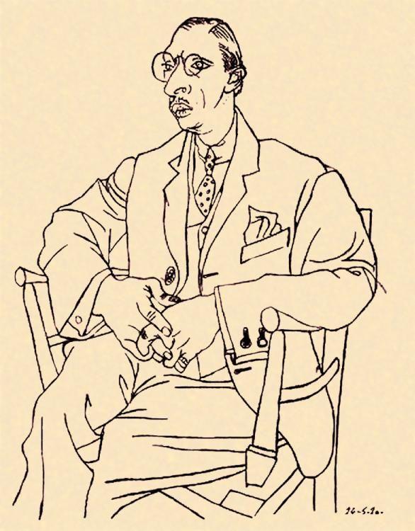 picasso drawing of igor stravinsky