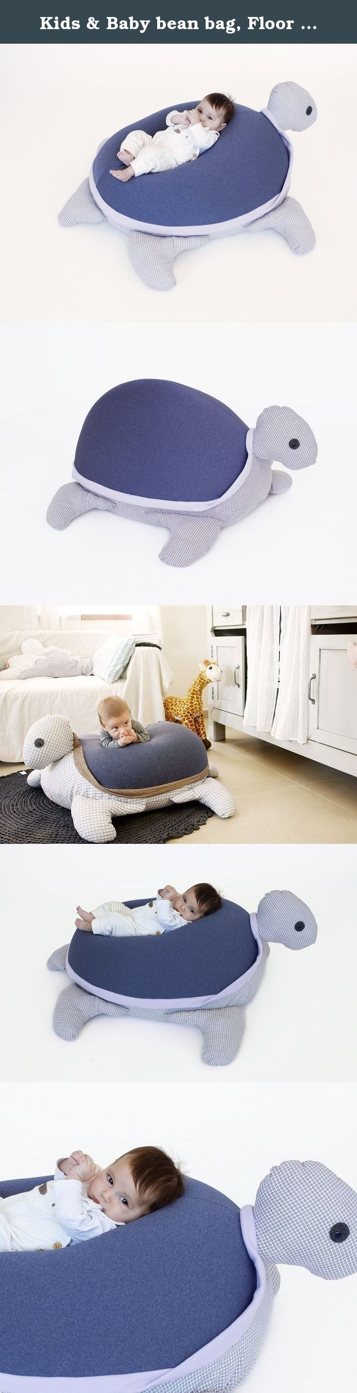 Kids & Baby bean bag, Floor pillow ,Giant animal shaped turtle Bean bag chair, Jeans color, with an internal pillow for easy wash and maintenance. This is an amazing Baby gift idea for a baby shower ,a giant turtle bean bag to place as a nursery floor pillow. It is soft and cuddly, fun to lean on, relax and a good bedtime story point. The flexibility of the Styrofoam beanbag fill, adjusts beautifully to the body, that's why the turtle bean bag is an excellent gift for newborn and toddlers...