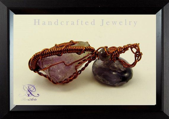 Amethyst quartz pendant. by rociarte on Etsy