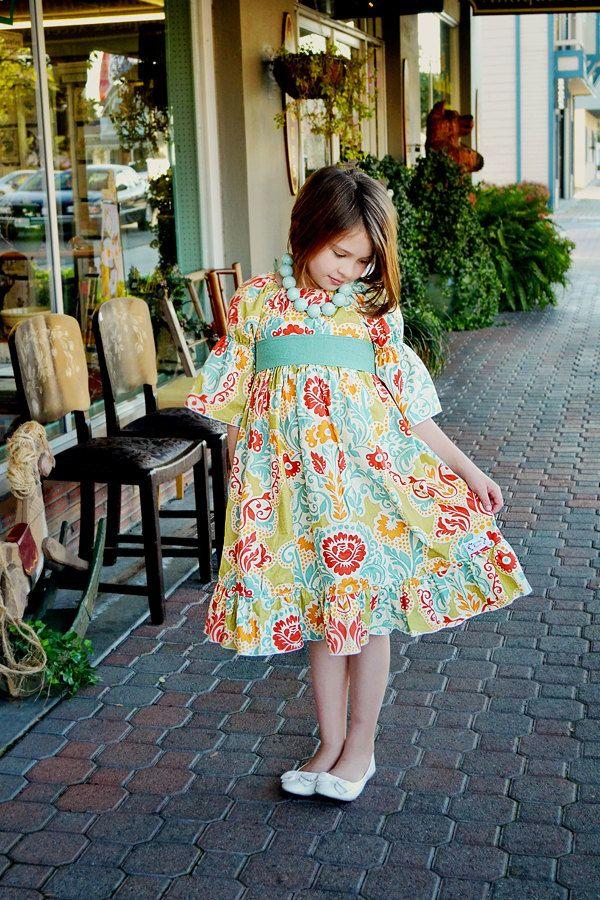 Marissas Tween Perfect Peasant Dress PDF Pattern size 7/8 to 15/16 girls. $10.00, via Etsy.