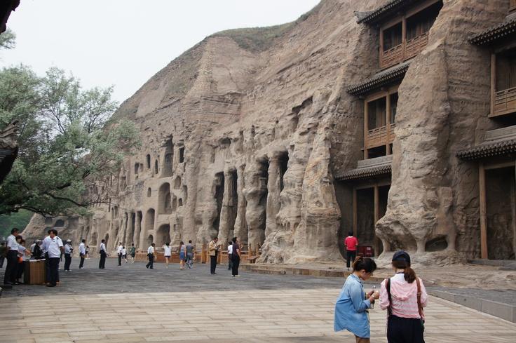 Yungang grotten even buiten Datong, China