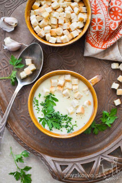 Anyżkowo: Zupa krem z czosnku