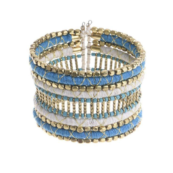 BRACELET IN BLUE/WHITE COLOR - Bracelets - Jewellery - Accessories