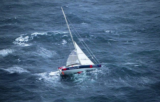 Bernard Stamm's IMOCA 60 during Leg 3 of the 2002/03 Around Alone race. Read more at http://www.yachtingworld.com/features/get-heaving-strong-winds-83704#oY6DzTKpbaU734FI.99