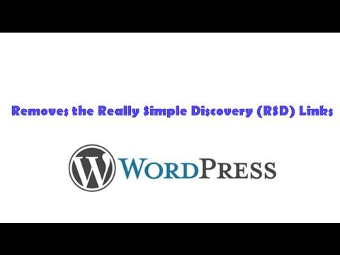 Removes the Really Simple Discovery RSD Links