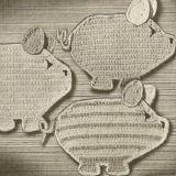 Crochet Potholder Pattern - Three Little Pigs