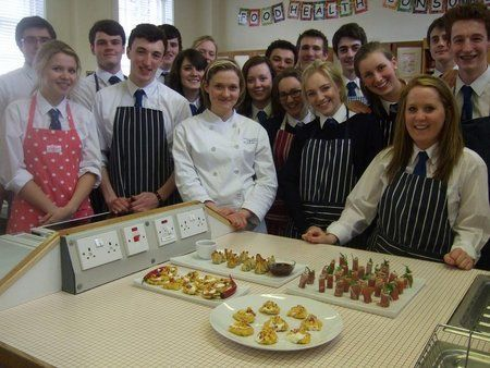 George Heriots students making canapés