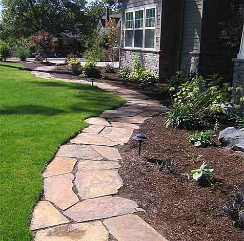 Brick Landscape Ideas Drg Flagstone Slate Stone And