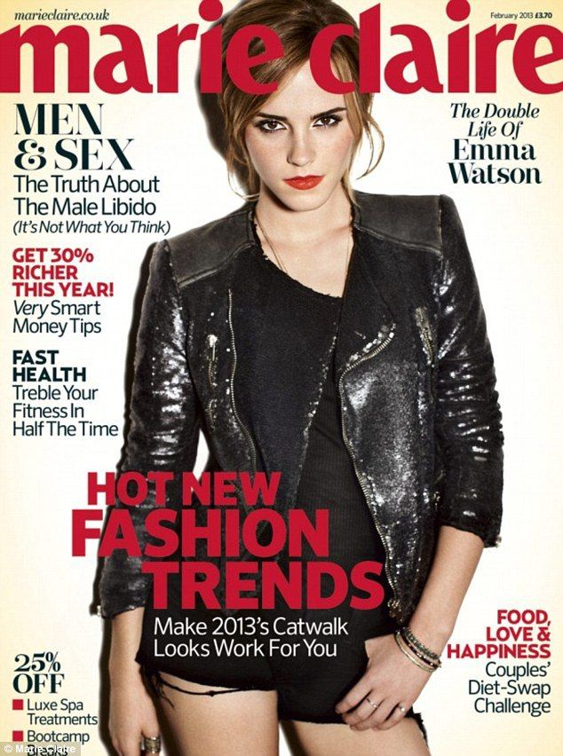 Check out Emma as she graces the cover of this February's Marie Claire UK issue!