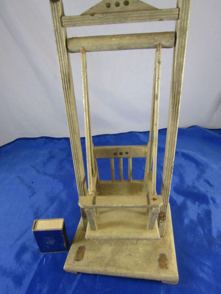 uralte puppen schaukel f r puppenstube puppenhaus um 1880 puppe antike einrichtung garten. Black Bedroom Furniture Sets. Home Design Ideas