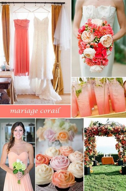 10 meilleures id es propos de couleurs de mariage corail. Black Bedroom Furniture Sets. Home Design Ideas