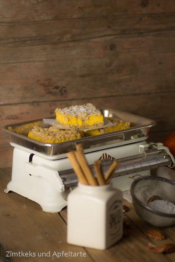 Wie wäre es denn mit einem Kürbis-Cheesecake mit Knusperstreuseln? - Zimtkeks und Apfeltarte