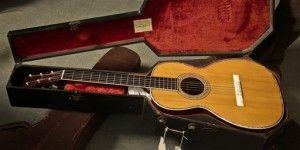 """1893 Martin guitar in a """"coffin"""" case"""