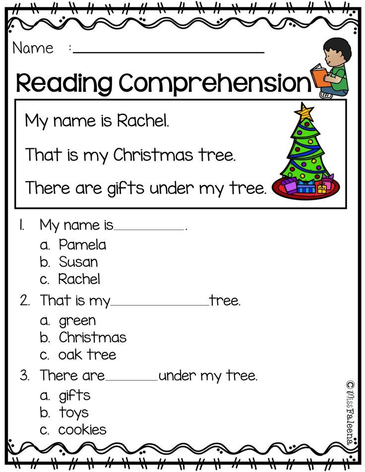 Free Reading Comprehension Christmas Reading Comprehension Reading Comprehension Worksheets Reading Comprehension Read and color comprehension worksheets