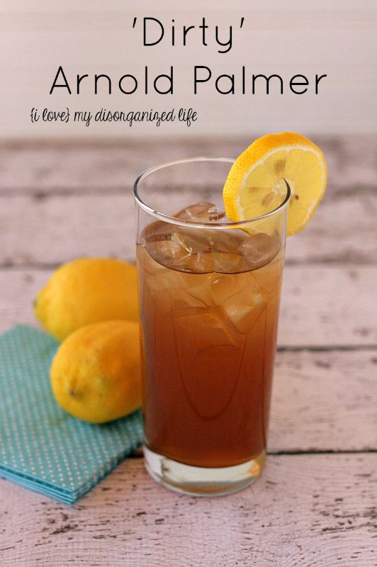 Dirty Arnold Palmer - A delightful twist on the refreshing golfer's classic {i love} my disorganized life